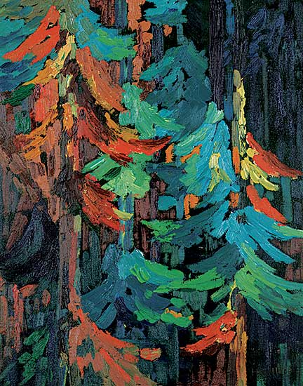 #1416 ~ Wallace - Untitled - Colourful Boughs