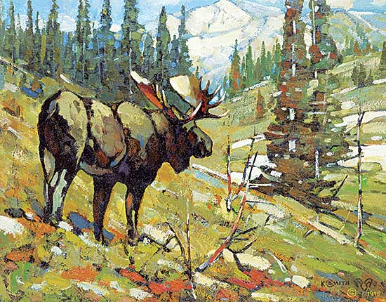 #94 ~ Smith - Untitled - Lone Moose