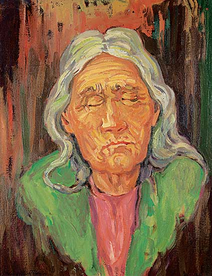 #101 ~ Thornton - Helen, Widow of Almighty Voice, Cree [Old Blind Helen]