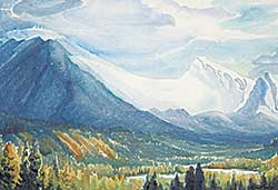#93 ~ Shelton - Fairholme Range from Campgrounds