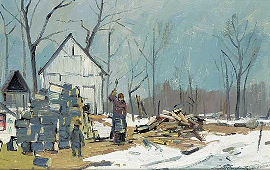 #412 ~ Bouchard - The Woodchopper, St. Placide, Quebec