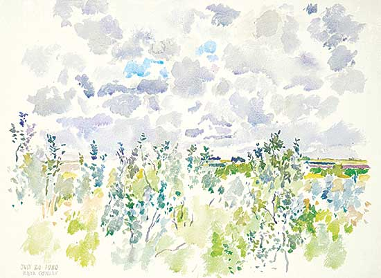 #424 ~ Cowley - Morning, Fast Moving Clouds