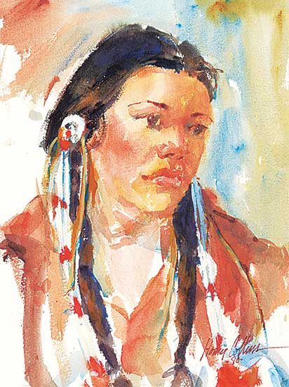 #1045 ~ Collins - Untitled - Woman in Braids