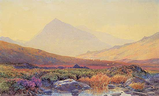 #1050 ~ Curnock - Untitled - A View of Mount Snowden, Wales