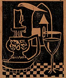 #1011 ~ Bates - Untitled - Still Life with Candle and Wine