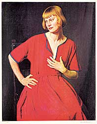 #1071 ~ Forbes - Untitled - Woman in Red Dress [The Artist's Wife]  #47/75