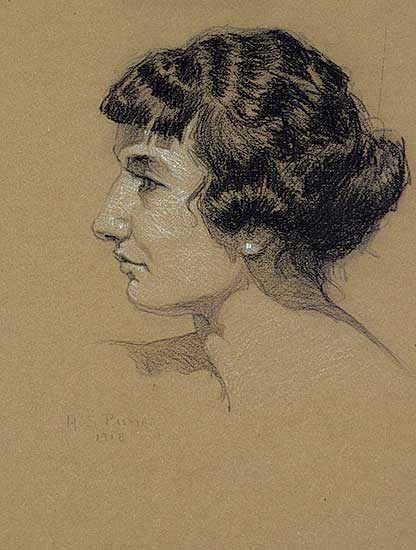 #1241 ~ Palmer - Untitled - Profile of a Lady