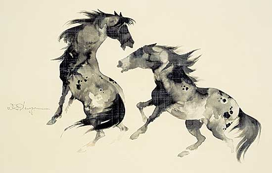 #1259 ~ Plangg - Untitled - Two Horses