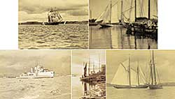 #1168 ~ MacAskill - Untitled - Lot of Five Ship Photographs