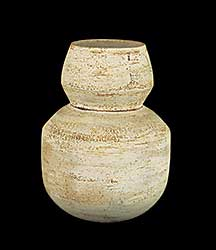 #1190 ~ McGie - Untitled - Small Beige Vase