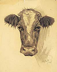 #1238 ~ Palmer - Untitled - Front Facing Cow