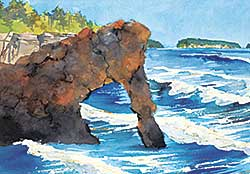 #1252 ~ Phillips - Untitled - Rock Cliff Near Thunder Bay