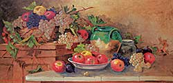 #1284 ~ Romagnoli - Untitled - Still Life with Grapes and Apples