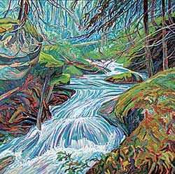 #225 ~ More - Mountain Stream and Mist, N.B.