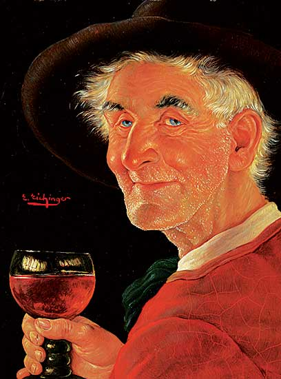 #433 ~ Eichinger - Untitled - Man Holding Wine Glass