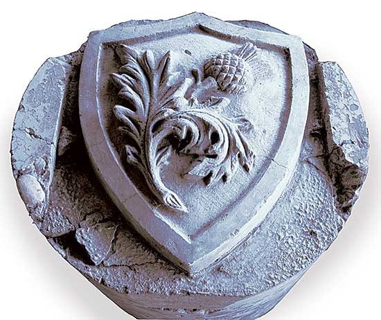 #511 ~ School - Scottish Thistle Crest from Centre Street Bridge