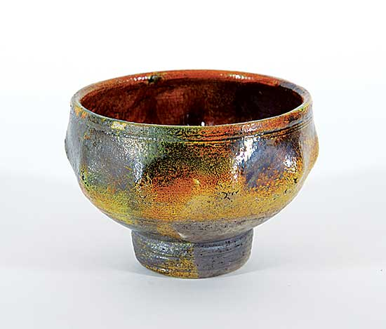 #1333.1 ~ Sures - Untitled - Flaming Orange Raku Bowl